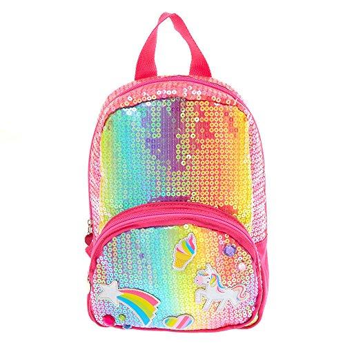 Claire's Girl's Kids Rainbow Unicorn Sequin Backpack