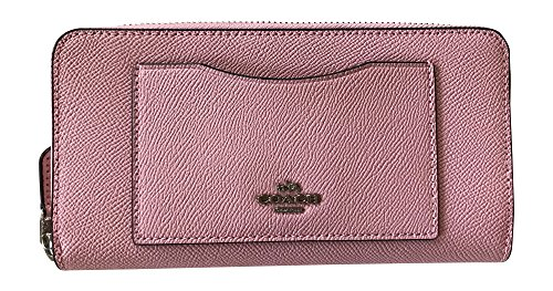Coach Crossgrain Leather Accordian Zip Wallet, Blush 2 by Coach
