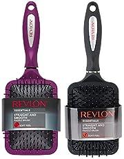 Revlon Conjunto de escova de cabelo liso e suave com toque macio, preto + frutas silvestres