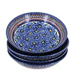 Product review for Polish Pottery Blue Art 4 Piece Large Salad Bowl Set