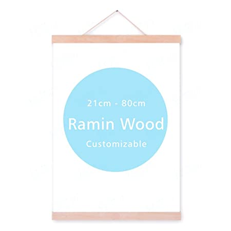 9bbc6543ca3 UniBridge DIY Natural Wooden Magnetic Photo/Picture/Canvas Painting/Poster  Hanger for Home Decoration Wall Art - Ramin Wood 50 cm (19.68 inch) with ...