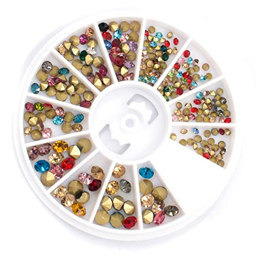 1 Pcs Mixed Colorful Round Studs Nail Art Beads First Class Popular Nails Crystal Kits Painting Pen Brushes Stamper Plate Tools Professional French Unicorn Halloween Decoration Polish Tips, Type-01 ()