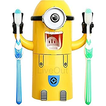 Amazon Com Minion Toothpaste Dispenser Kids Toothbrush
