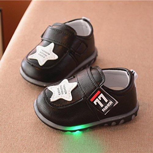 Omiky® Herbst Kleinkind Sport Running Baby Schuhe Jungen Mädchen leuchtende Schuhe Sneakers Schwarz