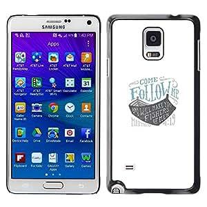 Paccase / SLIM PC / Aliminium Casa Carcasa Funda Case Cover para - follow me ark god blue ship boat white - Samsung Galaxy Note 4 SM-N910F SM-N910K SM-N910C SM-N910W8 SM-N910U SM-N910
