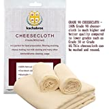 Cheesecloth 39 Sq Feet Grade 90 100% Unbleached Cotton Filter Strain Reusable Cooking Food Making Cheese Straining Nut Milks by Kachabros