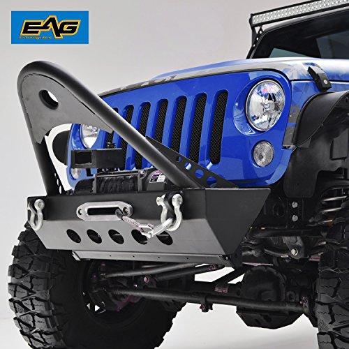 Stinger Rear (EAG Jeep Wrangler JK Stinger Front Bumper Guard - Winch Plate - D-ring Shackles)