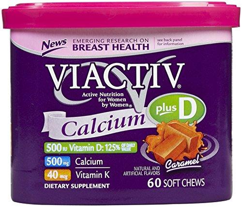 Viactiv Nutrition for Women, Calcium Plus D Soft Chews, Caramel, 60 Ea.