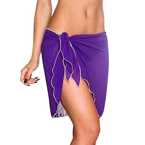 LHSTWQU Falda de Playa para Mujer Vestido de Playa Sarong Bikini ...