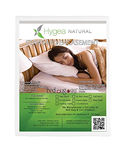 Hygea Natural Bed Bug Water Resistant Mattress Protector | Non Woven | Full Size - Size Matress Full Futon Cover
