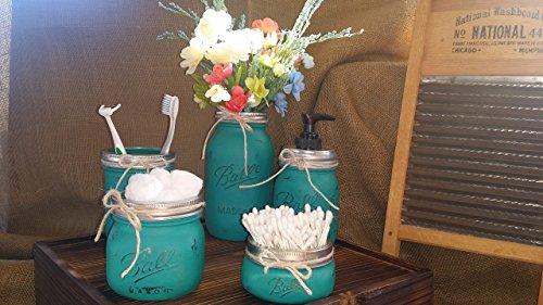 Rustic Mason Jar Bathroom Set
