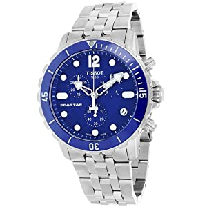 Tissot Men's T0664171104700 Seastar Stainless Steel Watch with Link Bracelet
