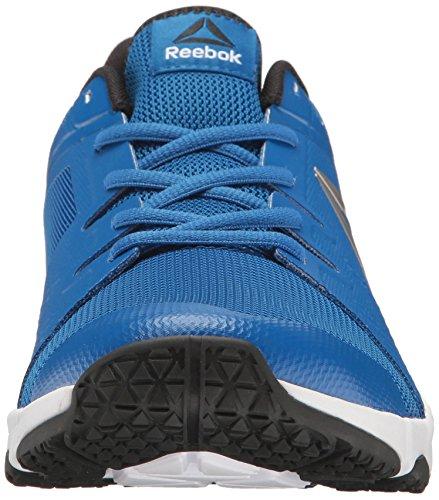 Mens Reebok Trainflex Cross-trainer Scarpa Impressionante Blu / Bianco / Nero / Peltro