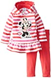 Disney Baby Girls' Minnie Mouse 2 Piece Stripe Fleece Set