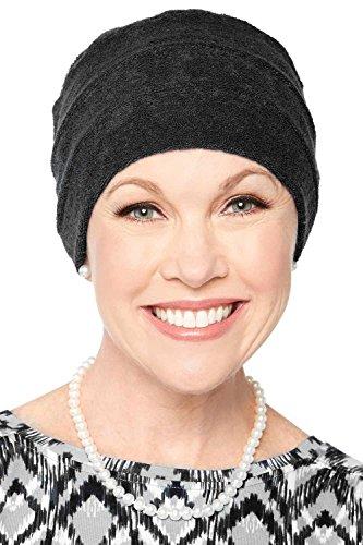 Headcovers Unlimited Three Seam Terry Cloth Turban   Womens Spa Chemo Turbans Black