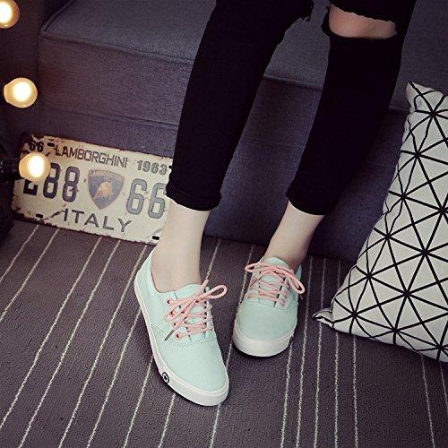 Cheji Kvinnor Skor Mode Duk Sneaker Löparskor Sport Shoe Blue