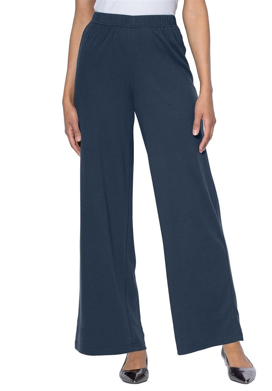 561321849d9 low-cost Roamans Women s Plus Size Soft Knit Wide Leg Pants - url ...