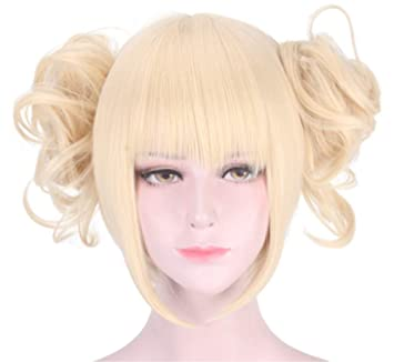 Amazon.com  Women s Yellow Blonde Cosplay Wig for My Hero Academia ... 98ac0c4aa5