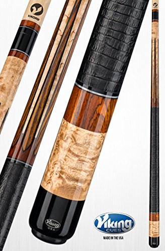 Viking A511 Pool Cue Stick 12 Central American Cocobolo and Black (IMA) Inlays - Birdseye Maple Central American Cocobolo - Quick Release Joint ViKORE Shaft 18, 18.5, 19, 19.5, 20, (Cocobolo Pool Cue Stick)