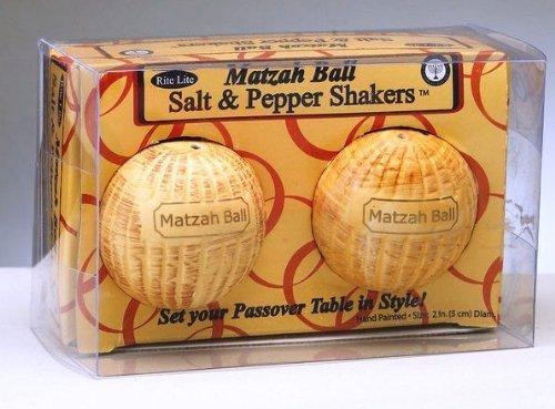 RITE LITE Matzah Ball Salt Pepper Shakers, 1 EA ()