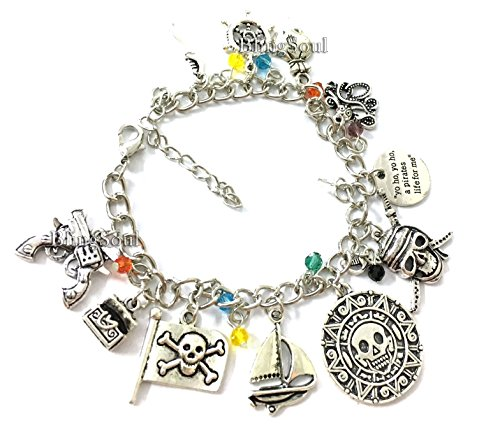 Jack Sparrow Bracelet Merchandise - Christmas Pirates The Caribbean Jewelry