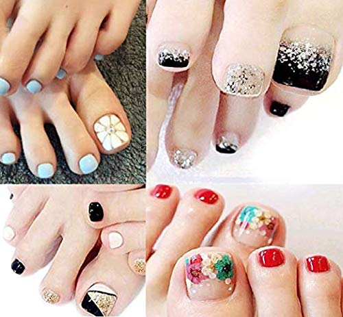 Bavs 11 DIFFERENT SHEET toes nail stickers Decal Beauty for Women Girls Kids Decals Manicure polish 3d art Glass slice toe nail sticker/Bling Bling Cubic 1 (Random) ()