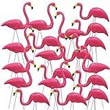 Yaheetech 50Pcs Bright Pink Flamingo Yard Ornament/Flamingo Lawn Ornaments/ink Flamingo Garden Yard Stakes