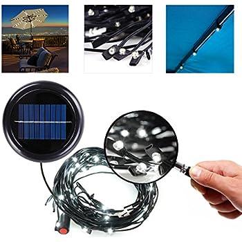Amazon Com 8ft 9ft 6 Rib Solar String Lights For Patio