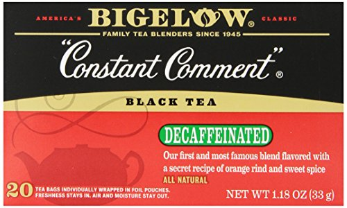 Bigelow Decaffeinated Constant Comment Tea, 20-Count Boxes (Pack of 6)