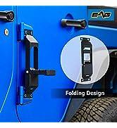 EAG Door Hinge Step Metal Folding Foot Peg Fit for 07-18 Wrangler JK 1PC