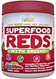 Doctor Formulated: Superfood Vital Reds With Greens, Made with Organic Ingredients , Vitamins & Minerals, Whole Food Powder - Fruits, Veggies, Probiotics, Digestive Enzymes & 50 Polyphenols