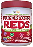 red algae extract - Superfood Vital Reds with Greens by Feel Great 365, Doctor Formulated, Contains Organic Ingredients, Whole Food Multivitamin & Mineral Powder - Fruits, Vegetables, Probiotics, Digestive Enzymes