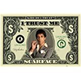 1art1 36660 Scarface - Dollar Bill Poster (91 x 61 cm)