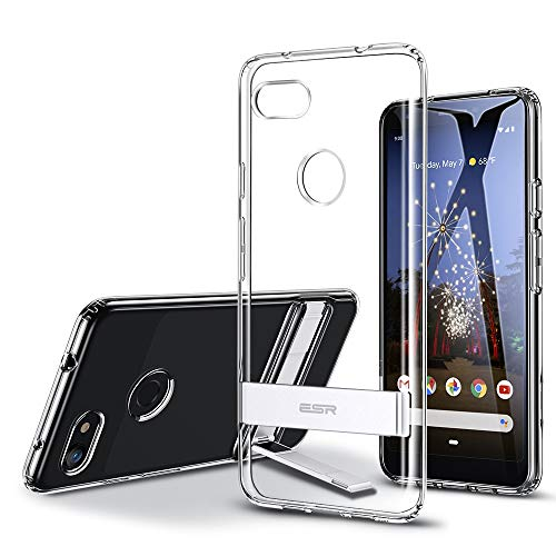 ESR Metal Kickstand Series Compatible with Google Pixel 3a Case, Vertical and Horizontal Stand, Reinforced Drop Protection, Flexible TPU Case with Soft Back for The Pixel 3a (2019 Release), Clear