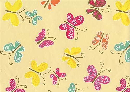 Susy Card 11091022/Papel de regaloMariposas Amarillo en rollo