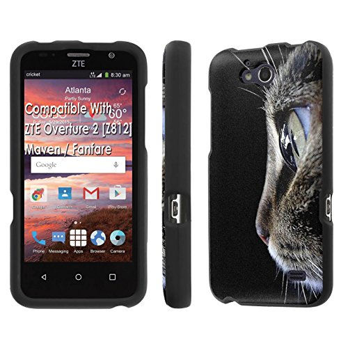 ZTE Overture 2 [Z812]/ Maven / Fanfare Case, [NakedShield] [Black] Total Armor Protection Case - [Cat Portrait] for ZTE Overture 2 [Z812] / Maven / Fanfare (Mercury Maven Ii compare prices)