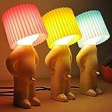 AFAITH Novelty Naughty Little Boy Art Table Desktop Night Light Reading Lamp (Blue)
