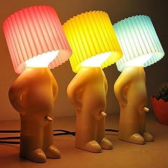 Amazing AFAITH Novelty Naughty Little Boy Art Table Desktop Night Light Reading Lamp  (Blue)