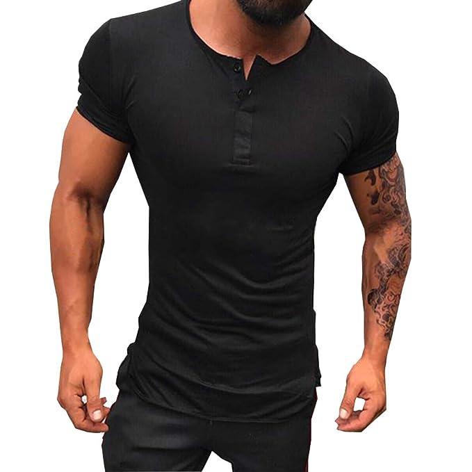 Amazon.com: PureSnowSpin - Camisetas de algodón Henley para ...