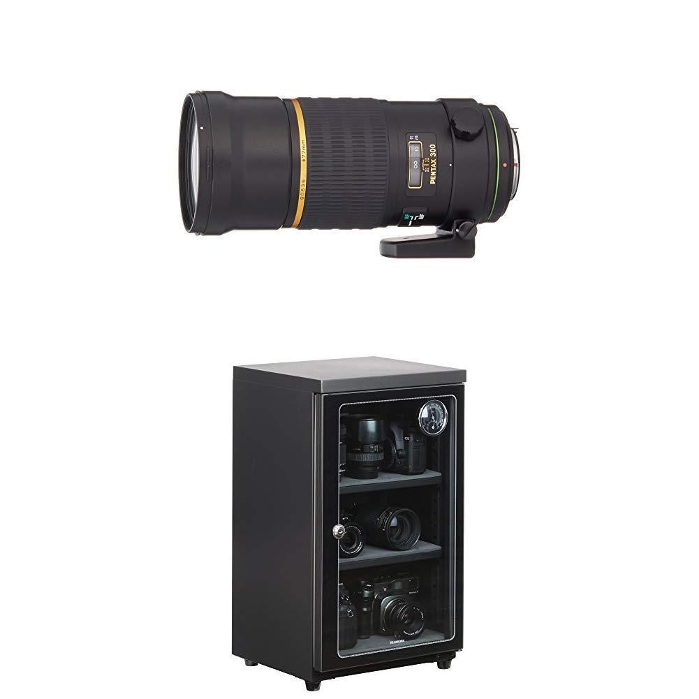 PENTAX スターレンズ 超望遠単焦点レンズ DA★300mmF4ED[IF]SDM Kマウント APS-Cサイズ 21760 + HAKUBA 電子防湿庫 E-ドライボックス 60リットル KED-60セット   B07KSLN7GF
