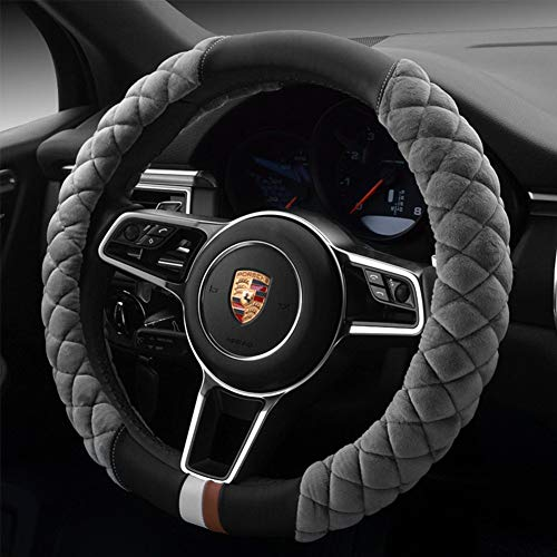 universal car steering wheel cover fluffy winter