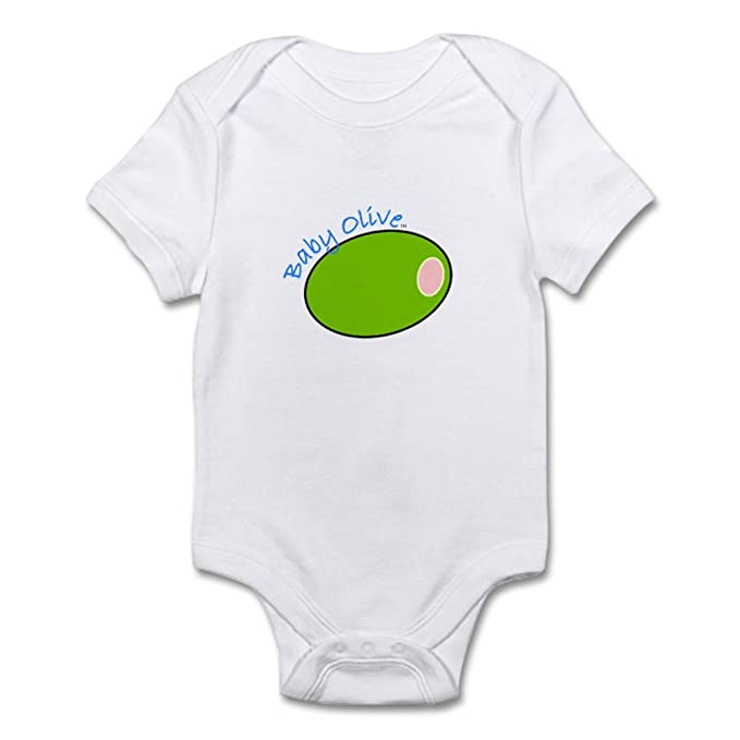 dd9c37aae622 Amazon.com  CafePress Baby Olive Infant Creeper Bodysuit - Cute Infant  Bodysuit Baby Romper  Clothing