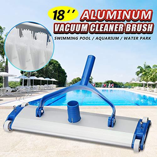 NOKMY Deluxe Aluminum Alloy 18'' Swimming Pool Vacuum Cleaner Brushes Flexible Vacuum Head Brush Pool Accessories