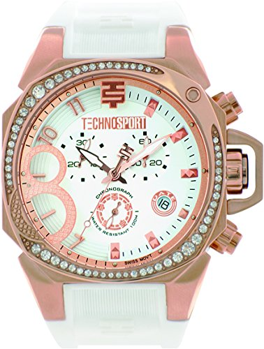 technosport-ts-103-2-womens-white-silicone-band-gold-bezel-40mm-white-dialstainless-steel-chronograp