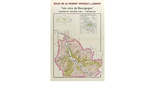 Chablis France Map.Amazon Com Bourgogne Burgundy Wine Map Chablis Appellations