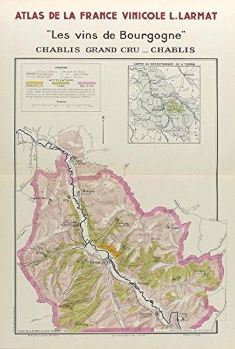 Map Of Yonne France.Amazon Com Bourgogne Burgundy Wine Map Chablis Appellations