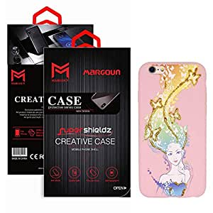 Margoun Soft TPU Pinky Case with Butterfly Girl Design Compatible for Apple iPhone 6/6s
