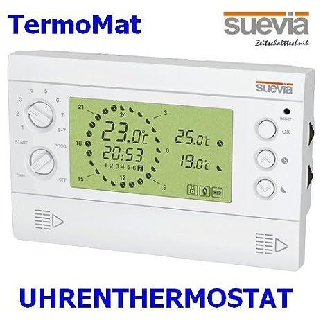 Electrónica de relojes-termostato TermoMat de Suevia visto-termostato 8 programas para calefacción o