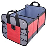 SAILNOVO Car Foldable Trunk Organiser Storage, Multi-functional Collapsible Environmental Premium Organizer Box Bag for SUV, Truck, Auto & any Vehicle