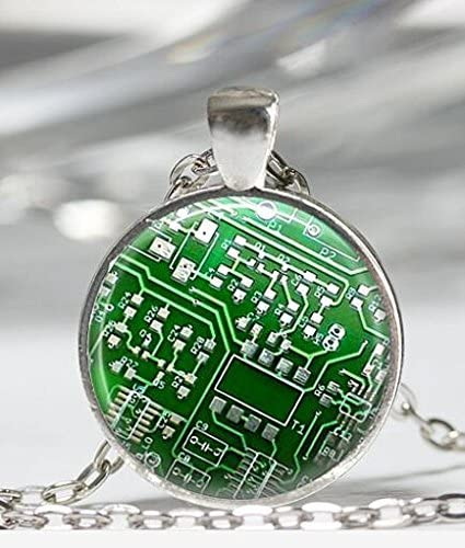 Wearable Technology Tech Gift Upcycled Circuit Board Jewelry Green Circuit Board Tie Tack Nerdy Computer Jewelry Fathers Day Gift